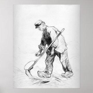 Vincent van Gogh   Reaper Poster