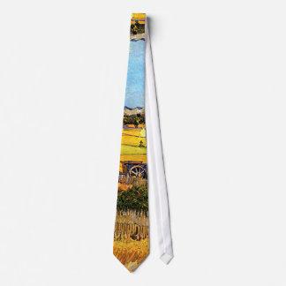 Vincent van Gogh - récolte aux beaux-arts de Crau Cravate