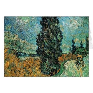 Vincent van Gogh - route avec le cyprès et Carte De Vœux