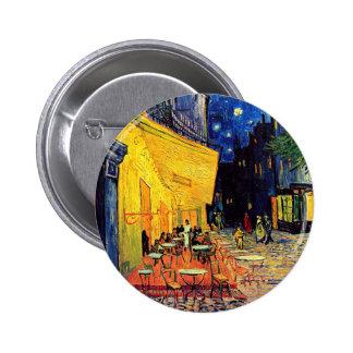 Vincent van Gogh - terrasse de café aux beaux-arts Badges