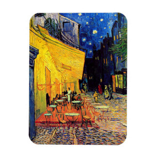 Vincent van Gogh - terrasse de café aux beaux-arts Magnets Rectangulaires