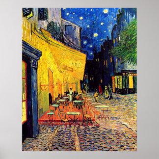 Vincent van Gogh - terrasse de café aux beaux-arts Poster