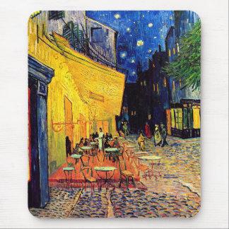 Vincent van Gogh - terrasse de café aux beaux-arts Tapis De Souris