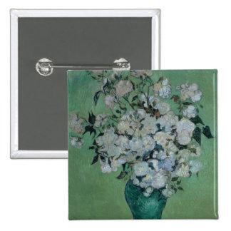 Vincent van Gogh | un vase de roses, 1890 Badge