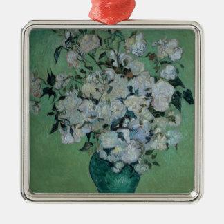 Vincent van Gogh | un vase de roses, 1890 Ornement Carré Argenté
