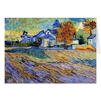 Vincent van Gogh - vue de l'asile et de la Carte De Vœux