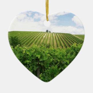 Vineyard - Vignoble (Bordeaux - France) 01 Ornement Cœur En Céramique