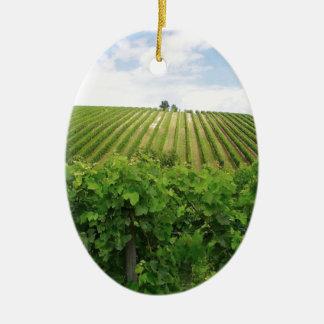 Vineyard - Vignoble (Bordeaux - France) 01 Ornement Ovale En Céramique