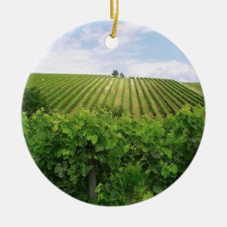 Vineyard - Vignoble (Bordeaux - France) 01 Ornement Rond En Céramique