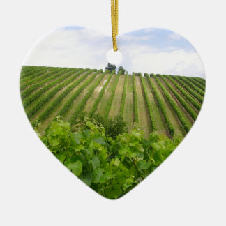 Vineyard - Vignoble (Bordeaux - France) 02 Ornement Cœur En Céramique