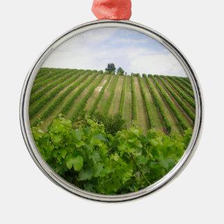 Vineyard - Vignoble (Bordeaux - France) 02 Ornement Rond Argenté