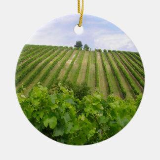Vineyard - Vignoble (Bordeaux - France) 02 Ornement Rond En Céramique
