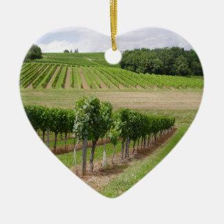 Vineyard - Vignoble (Bordeaux - France) 03 Ornement Cœur En Céramique
