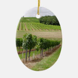 Vineyard - Vignoble (Bordeaux - France) 03 Ornement Ovale En Céramique