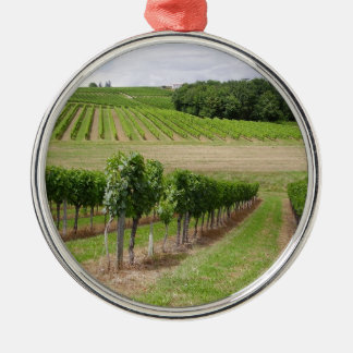 Vineyard - Vignoble (Bordeaux - France) 03 Ornement Rond Argenté