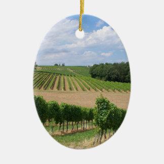 Vineyard - Vignoble (Bordeaux - France) 04 Ornement Ovale En Céramique