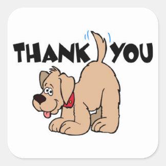 VINGT autocollants de Merci - chien avec la queue