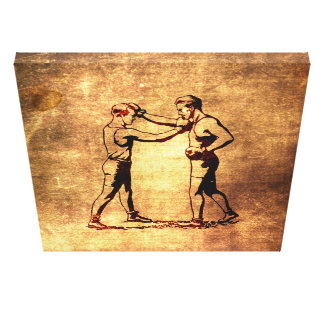 Vintage boxing men toiles