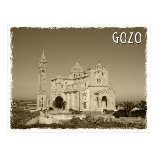 Vintage church AT Gozo, Malte Carte Postale
