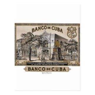 Vintage cubain Banque du Cuba du Cuba Cartes Postales