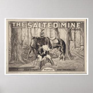 ~ VINTAGE d'AFFICHE de FILM la mine salée Posters