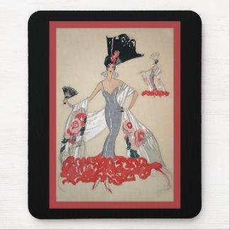 ~ vintage d'illustration de mode tapis de souris
