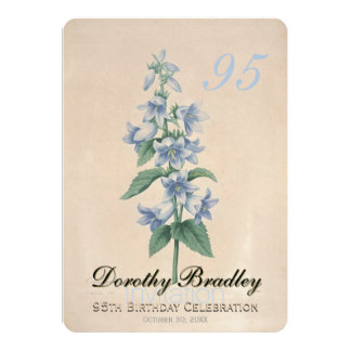 Vintage Floral 95th Birthday Celebration Custom Card