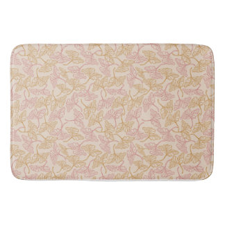 Vintage floral pattern with yellow and leaves rose tapis de bain