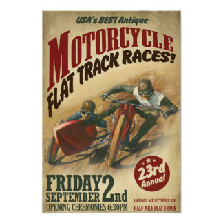 VINTAGE MOTORCYCLE EVENT POSTERS