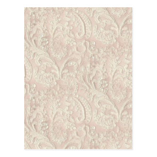 Vintage pâlissez - la dentelle rose cartes postales