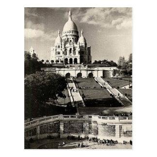 Vintage Sacré-Coeur de Montmartre dans le Paris Carte Postale