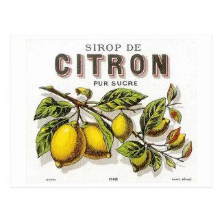 Vintage Sirop de Citron Ad Carte Postale
