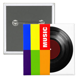 vinyle coloré de musique de rayures badges