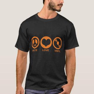 Vinyle d'amour de paix t-shirt
