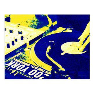 Vinyle de rotation 3 du DJ Carte Postale