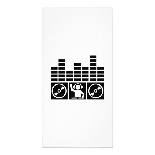 Vinyles du DJ d'égaliseur Cartes De Vœux Avec Photo