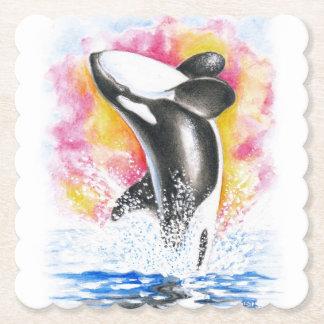 Violation d'orque dessous-de-verre en papier