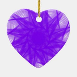 violet ornement cœur en céramique