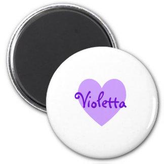Violetta dans le pourpre magnets pour réfrigérateur