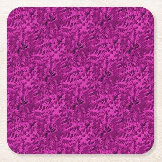 Violette abstraite d'art de bruit de feuillage dessous-de-verre carré en papier