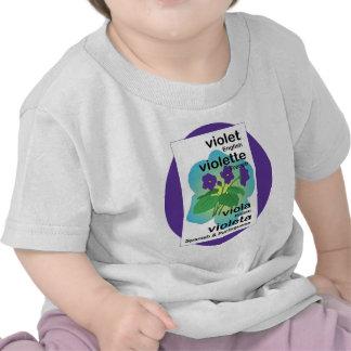Violette dans beaucoup de langues t-shirt
