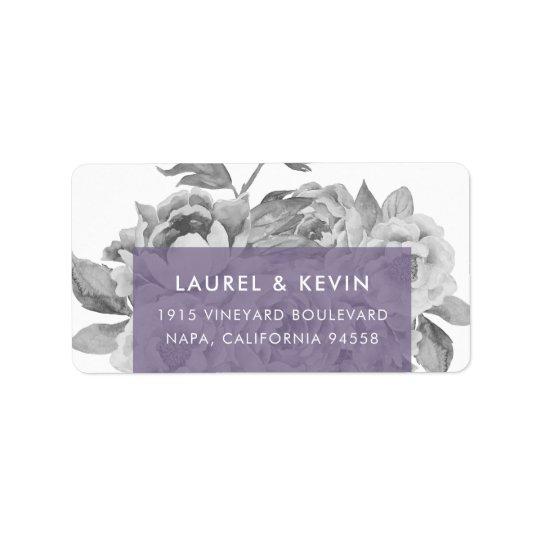 Violette de retour florale vintage des étiquettes