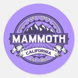 Violette gigantesque de Mtn Sticker Rond