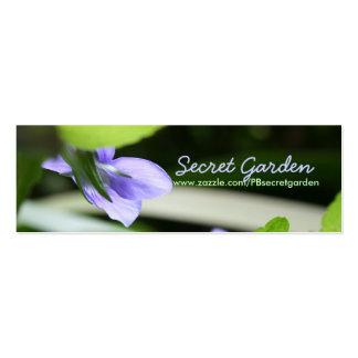 Violette secrète cartes de visite professionnelles