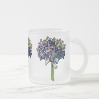 Violettes vintages mug en verre givré