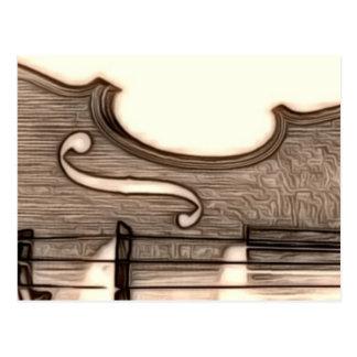 Violon, alto, violoncelle ? carte postale