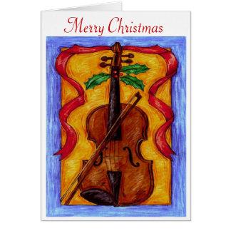 Violon de Noël - carte de voeux