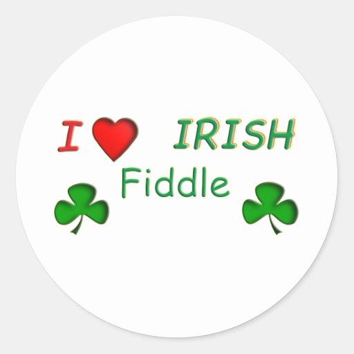 Violon d'Irlandais d'amour Autocollants