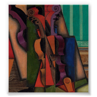 Violon et guitare par Juan Gris Affiches