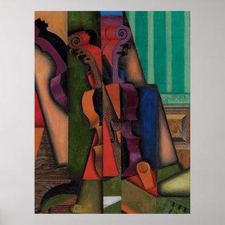 Violon et guitare par Juan Gris Posters
